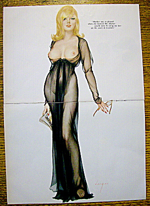 Alberto Vargas Pin Up Girl March 1965 Playboy