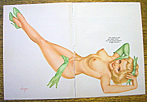 Alberto Vargas Pin Up Girl December 1968 Chimney