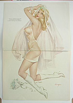 Alberto Vargas Pin Up Girl June 1969 Lovely Bride
