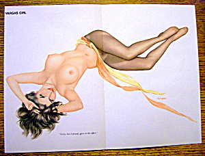 Alberto Vargas Pin Up Girl January 1972 Gave At Office