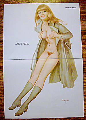 Alberto Vargas Pin Up Girl May 1972 Saving A Rainy Day
