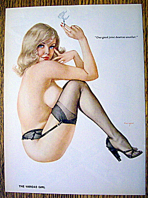 Alberto Vargas Pin Up Girl November 1975 Good Joint