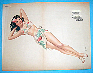 Esquire Girl Pin-up July 1945 Classic Example