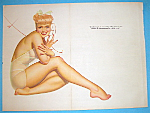 Petty Pin Up Girl December 1941 Woman On Telephone (Image1)