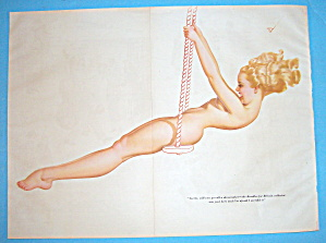 Petty Pin Up Girl September 1941 Girl On A Swing