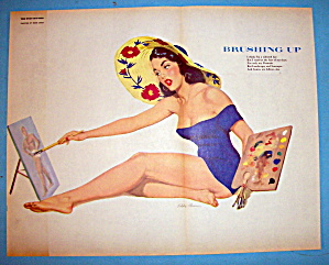Esquire Pin Up Girl November 1952 Brushing Up (E. Chan)