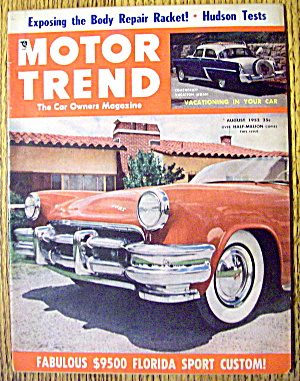 Motor Trend Magazine August 1952 Florida Sport Custom