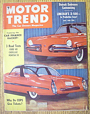 Motor Trend Magazine May 1953 Lincoln's X-500