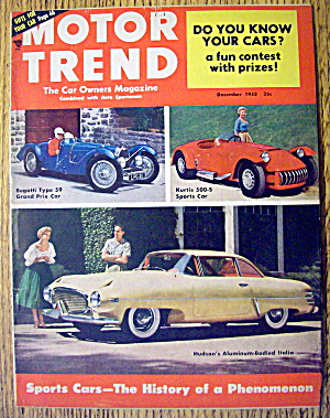 Motor Trend Magazine December 1953 Sports Cars