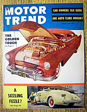 Motor Trend Magazine March 1954 The Golden Touch