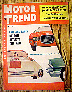 Motor Trend Magazine July 1954 Detroit Stylists