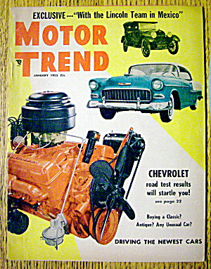 Motor trend magazine january 1955 chevrolet automobile for New deal online motor trend