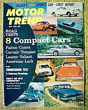 Motor Trend Magazine May 1961 8 Compact Cars