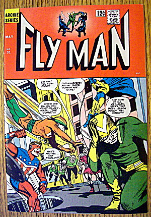 Fly Man Comic #31 May 1965 Fly Man's Partners In Peril