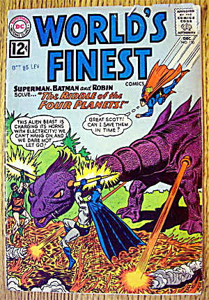 World's Finest Comic #130 December 1962 Four Planets