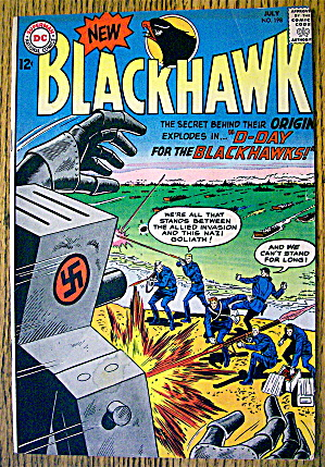 Blackhawk Comic #198 July 1964 D-day For Blackhawks