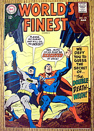 World's Finest Comic #174 March 1968 Double Death Wish