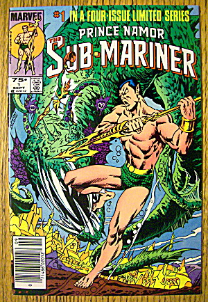 Prince Namor Sub-Mariner Comic #1 September 1984 (Image1)
