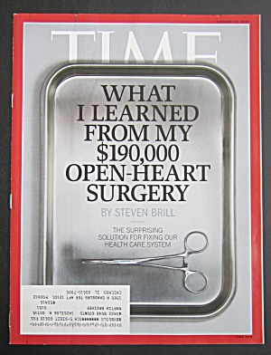 Time Magazine January 19, 2015 Open Heart Surgery