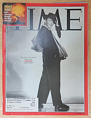 Time Magazine May 25, 1998 Frank (Francis) A. Sinatra