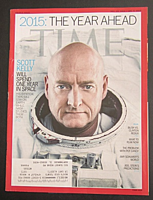 Time Magazine Dec 29, 2014-jan 15, 2015 Scott Kelly