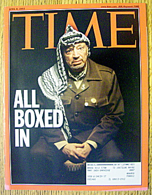 Time Magazine April 8, 2002 All Boxed In