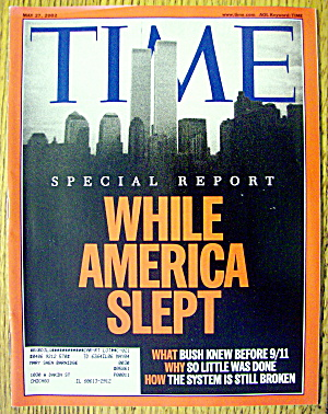Time Magazine May 27, 2002 While America Slept (Image1)