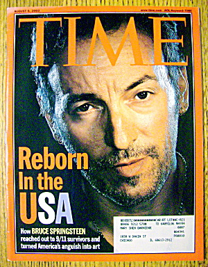 Time Magazine August 5, 2002 Reborn In The Usa