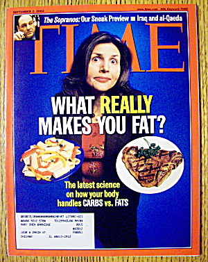 Time Magazine September 2, 2002 What Makes You Fat?