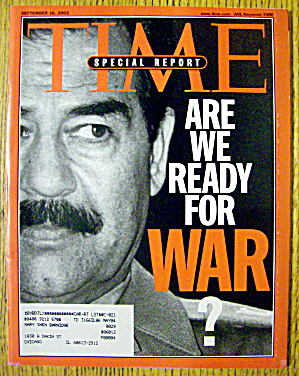 Time Magazine September 16, 2002 Are We Ready For War?