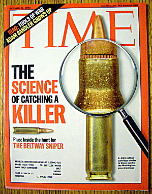 Time Magazine October 21, 2002 Science To Catch Killer