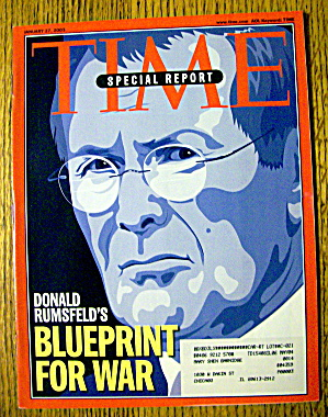 Time Magazine January 27, 2003 Donald Rumsfeld