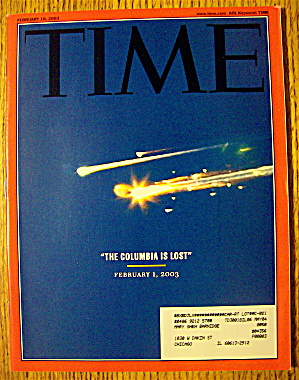Time Magazine February 10, 2003 The Columbia Is Lost