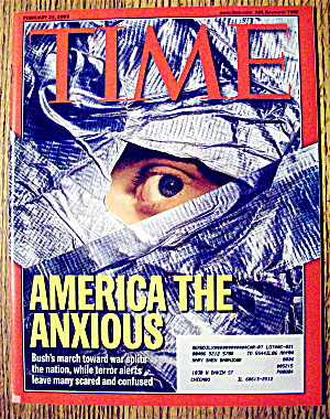 Time Magazine February 24, 2003 America The Anxious