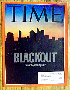 Time Magazine August 25, 2003 Blackout