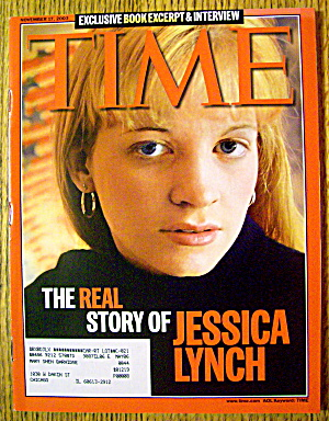 Time Magazine November 17, 2003 Story Of Jessica Lynch