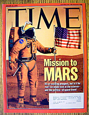 Time Magazine January 26, 2004 Mission To Mars