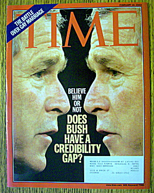 Time Magazine February 16, 2004 George Bush