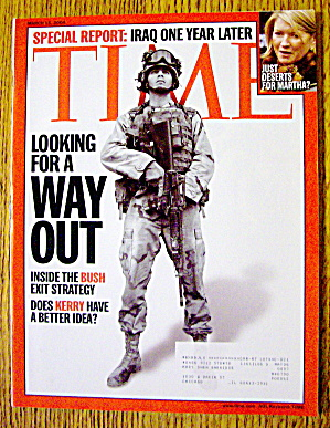 Time Magazine March 15, 2004 Looking For A Way Out
