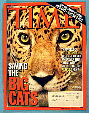 Time Magazine August 23, 2004 Saving The Big Cats