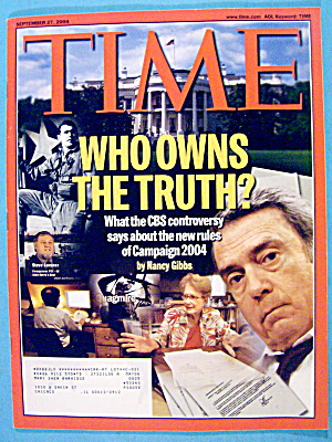 Time Magazine September 27, 2004 Who Owns The Truth?