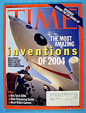 Time Magazine November 29, 2004 Inventions Of 2004
