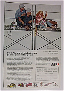Norman Rockwell 1972 A-t-o Ad