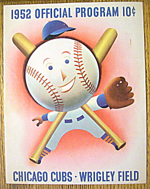 Chicago Cubs vs. Cincinnati Scorecard/Program 1952 (Image1)