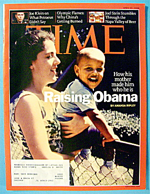 Time Magazine April 21, 2008 Raising Obama