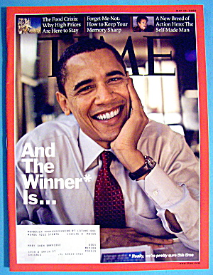 Time Magazine May 19, 2008 And The Winner Is...