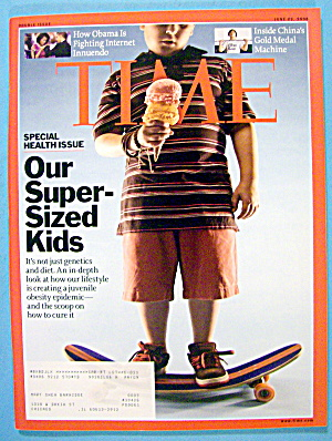 Time Magazine June 23, 2008 Our Super-sized Kids