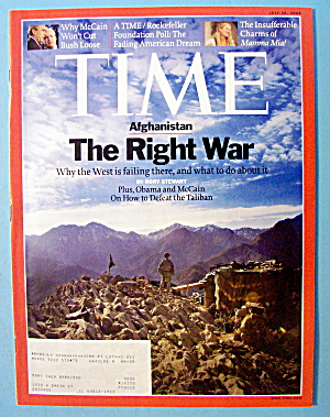 Time Magazine July 28, 2008 Afghanistan: The Right War