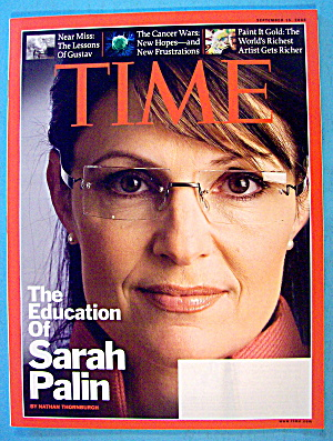 Time Magazine September 15, 2008 Sarah Palin