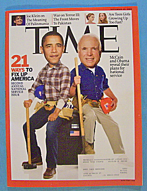 Time Magazine September 22, 2008 Mccain & Obama